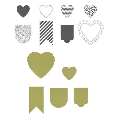 Hearts a Flutter Bundle Clear