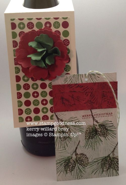 Watercolor Winter Be of Good Cheer Blossom Punch Tags