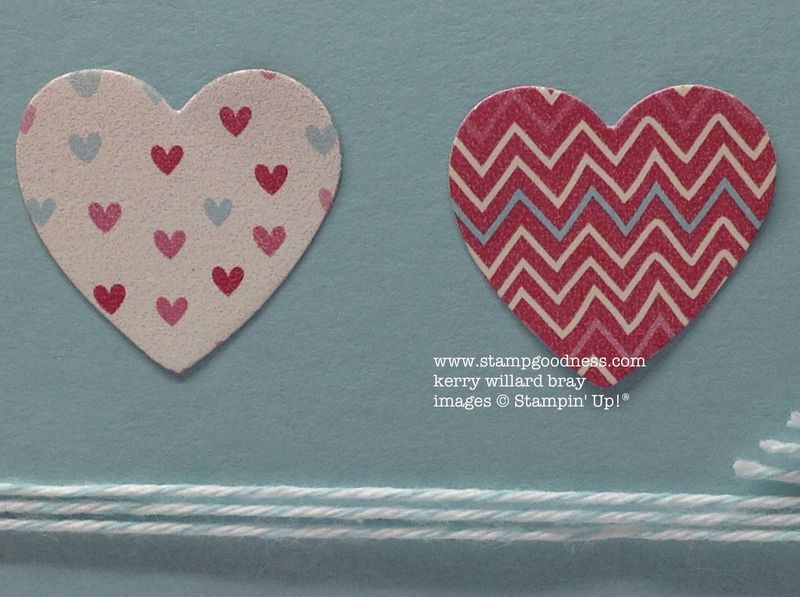 Hearts a Flutter More Amore Just for You Pop-Up Posies Stampin Up hearts