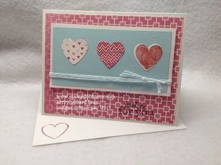 Hearts a Flutter More Amore Just for You Pop-Up Posies Stampin Up MOJO272