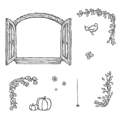 Cottage Window Clear-Mount Stamp Set