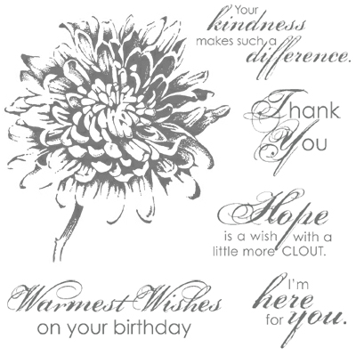 Blooming with Kindness Clear-Mount Stamp Set