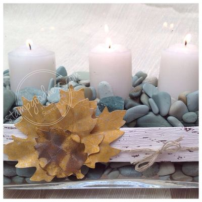 Stampin' Up! Thankful Tablescape candle
