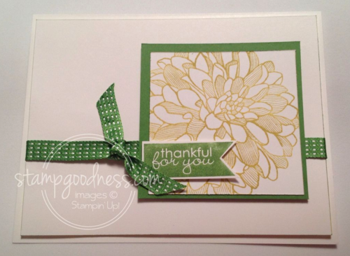 Stampin' Up! Regarding Dahlias