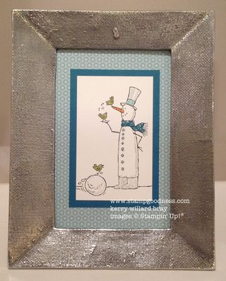 Snow Much Fun framed home decor Stampin Up