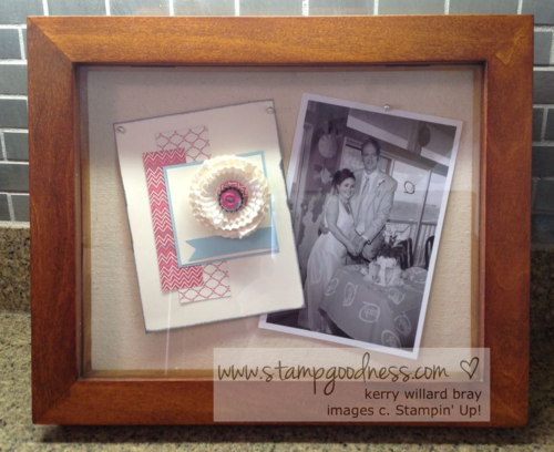 Pop-Up Posies Stampin Up DIY shadow box