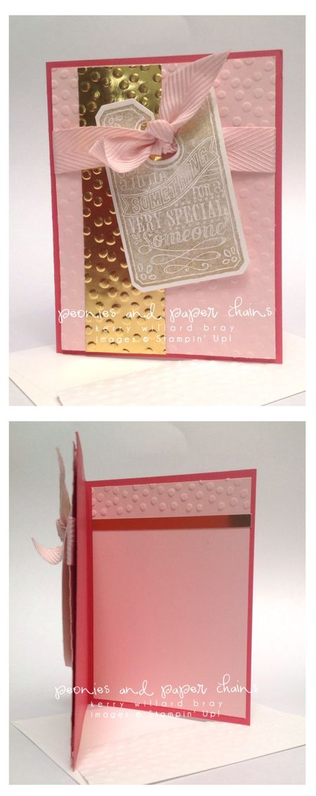 Chalk Talk stamp set and framelits, diy card, Kerry Willard Bray, peonies and paper chains blog