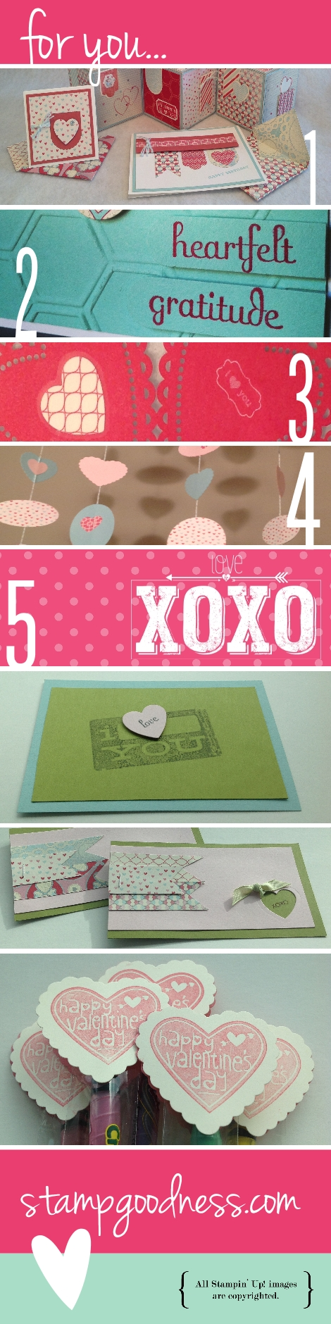 Valentine's Wishes Hearts a Flutter Stampin Up