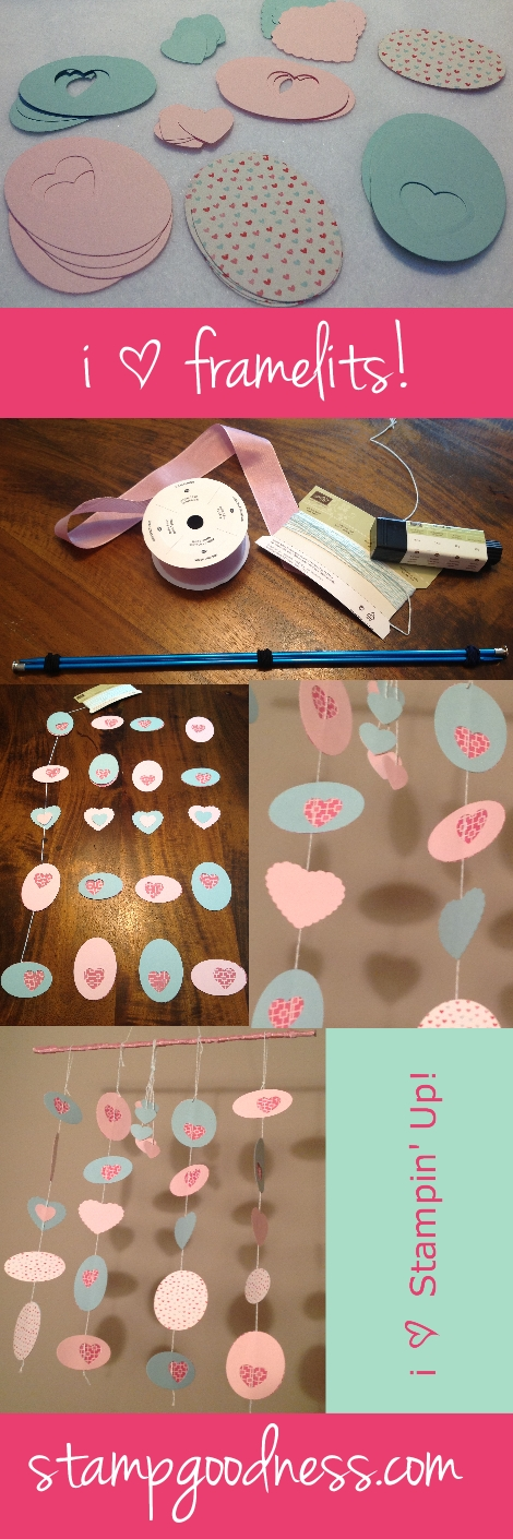Valentine's Mobile Ovals Collection Hearts a Flutter Collection Framelits Stampin Up