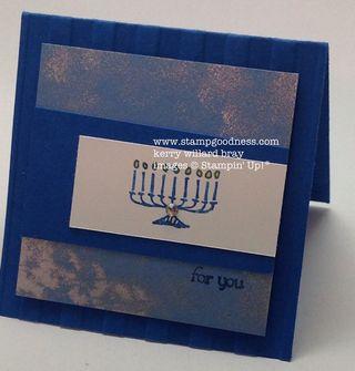 Teeny Tiny Wishes Every Little Bit Hanukkah Menorah Stampin Up