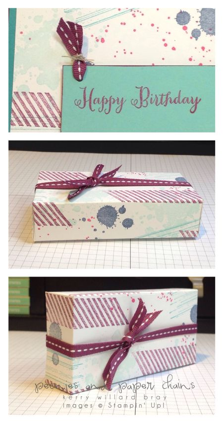 Stampin' Up! Gorgeous Grunge box and card detail Kerry Willard Bray www.peoniesandpaperchains.com
