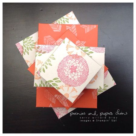 Stampin' Up! Petal Parade stamp set decrating paper boxes by Kerry Willard Bray www.peoniesandpaperchains.com 6