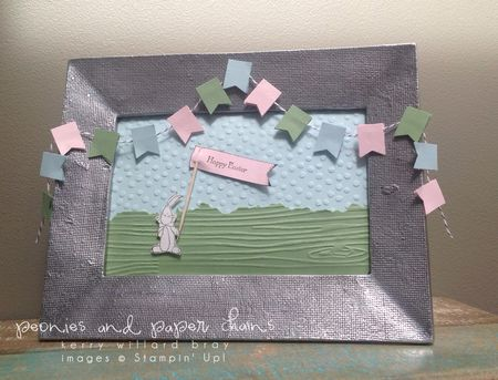 Stampin' Up! Baby We've Grown stam set Framed Art for Easter by Kerry Willard Bray www.peoniesandpaperchains.com