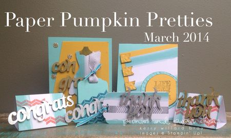 Stampin' Up! Paper Pumpkin March 2014 cards and tags by Kerry Willard Bray www.peoniesandpaperchains 0