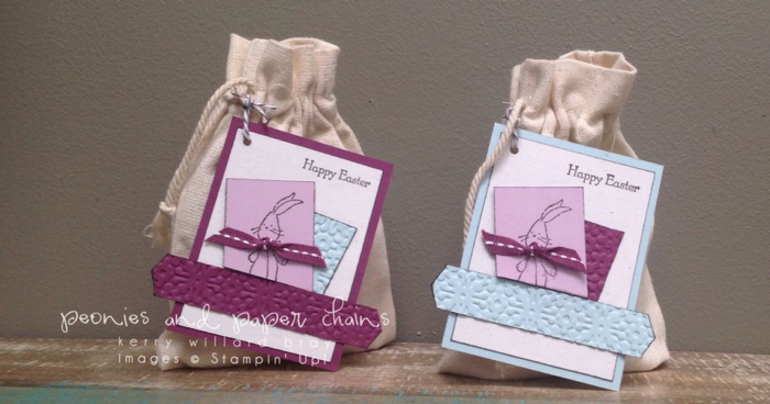 Stampin' Up! Baby We've Grown stamp set - bunny tags by Kerry Willard Bray www.peoniesandpaperchains.com 2