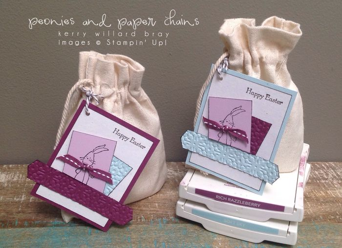 Stampin' Up! Baby We've Grown stamp set - bunny tags by Kerry Willard Bray www.peoniesandpaperchains.com 3