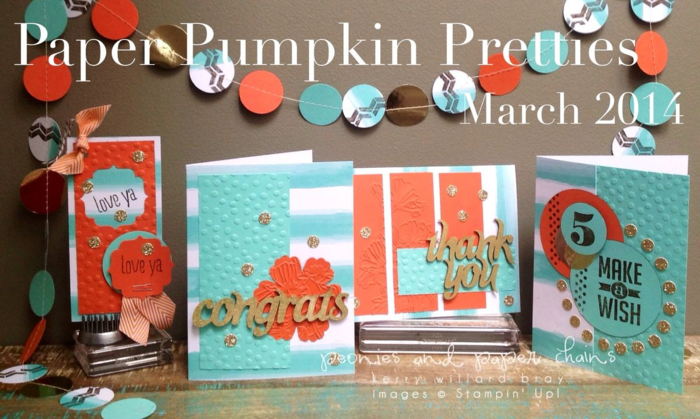 Stampin' Up! Paper Pumpkin March 2014 creations by Kerry Willard Bray www.peoniesandpaperchains.com set 2-7