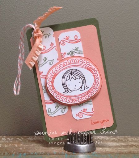 Stampin' Up! Sweetie Pie stamp set - gift tag by Kerry Willard Bray www.peoniesandpaperchains.com 2