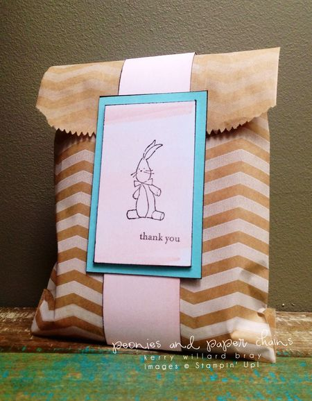 Stampin' Up! Baby We've Grown thank you card packaging by Kerry Willard Bray www.peoniesandpaperchains.com