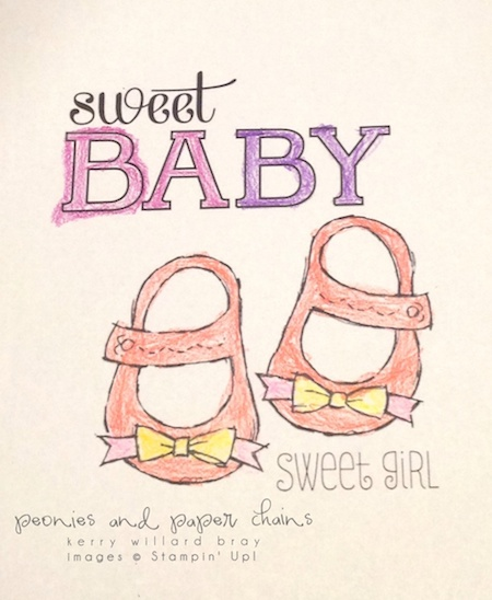 Stampin' Up! Baby We've Grown coloring page by Kerry Willard Bray www.peoniesandpaperchains img1