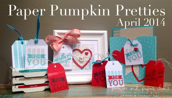 Stampin' Up! Paper Pumpkin April 2014 projects by Kerry Willard Bray www.peoniesandpaperchains.com img1
