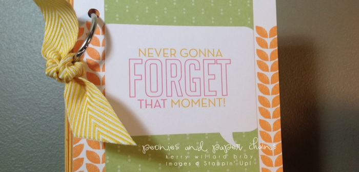 Stampin' Up! Project Life #PLxSU teacher book by Kerry Willard Bray www.peoniesandpaperchains.com img1