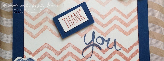 Stampin' Up! Flower Shop and Work of Art thank you gift bag by Kerry Willard Bray www.peoniesandpaperchains.com sentiment