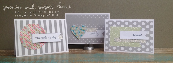 Stampin' Up! Happenings Simply Created Card Kit assembled by Kerry Willard Bray www.peoniesandpaperchains.com