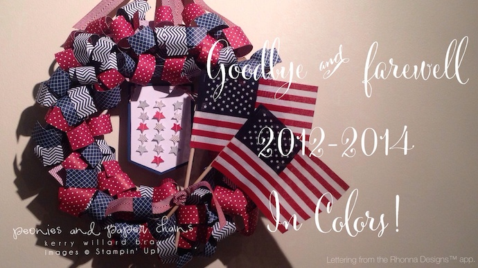 Stampin' Up! DIY Curled Paper Wreath with 2012-2014 In Color papers - made by Kerry Willard Bray www.peoniesandpaperchains.com