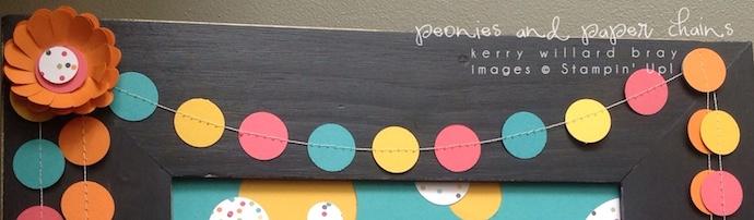 Stampin' Up! #PLxSU framed birthday decor by Kerry Willard Bray www.peoniesandpaperchains.com