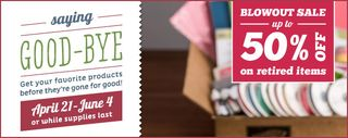 Stampin' Up! Retiring Products Sale!