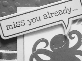 Stampin' Up! miss you card by Kerry Willard Bray www.peoniesandpaperchains.com featuring Sea Street and Just Saying stamp sets PPA206