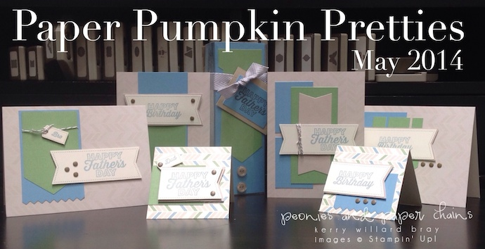 Stampin' Up! Paper Pumpkin Pretties May 2014 by Kerry Willard Bray www.peoniesandpaperchains.com