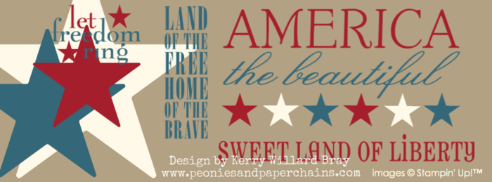 Kerry Willard Bray www.peoniesandpaperchains.com Facebook cover for 4th of July Stampin' Up! MDS