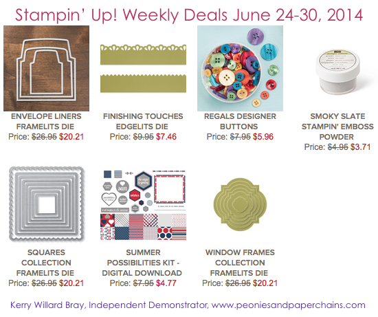 Stampin' Up! Weekly Deals June 24-30 2014