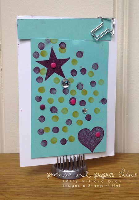 Card by Brooklyn with the Stampin' Up! Five Color Combo