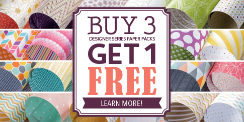 Stampin' Up! Designer Series Paper Buy 3 Get 1 Free