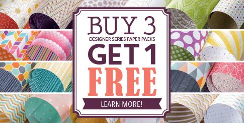 Stampin' Up! Designer Series Paper Buy 3 Get 1 Free