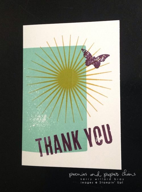 Stampin' Up! Kinda Eclectic Thank You Notes by Kerry Willard Bray www.peoniesandpaperchains.com