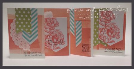 Stampin' Up! Simply Created Banner Kit Cards, Kerry Willard Bray, Peonies and Paper Chains