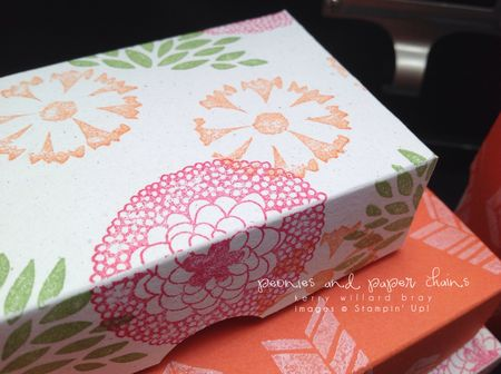 Stampin' Up! Petal Parade stamp set decrating paper boxes by Kerry Willard Bray www.peoniesandpaperchains.com 2