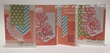 Stampin' Up! Heartfelt Banner kit - cards by Kerry Willard Bray www.peoniesandpaperchains.com