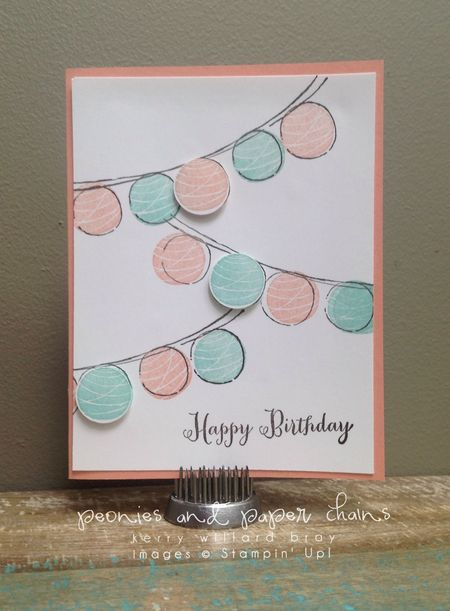 Stampin' Up! Happy Congratulations card by Kerry Willard Bray www.peoniesandpaperchains.com