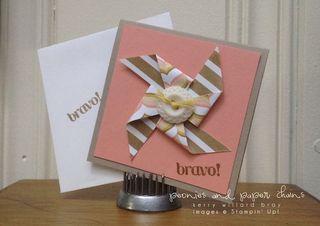 Stampin' Up! Lullaby designer series paper pinwheel by Kerry Willard Bray www.peoniesandpaperchains.com
