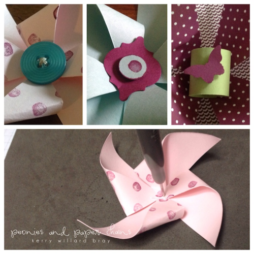 DIY Pinwheels using Stampin' Up! products by Kerry Willard Bray www.peoniesandpaperchains.com