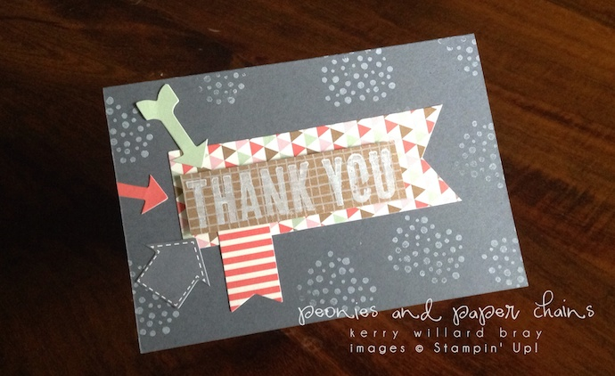 Stampin' Up! Hip Hip Hooray and Dude You're Welcome card by Kerry Willard Bray www.peoniesandpaperchains.com