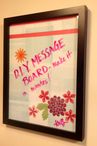 DIY Message Board made using Stampin' Up! products by Kerry Willard Bray www.peoniesandpaperchains.com