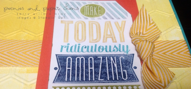 Stampin' Up! Amazing Birthday and Honeycomb card by Kerry Willard Bray www.peoniesandpaperchains.com 3