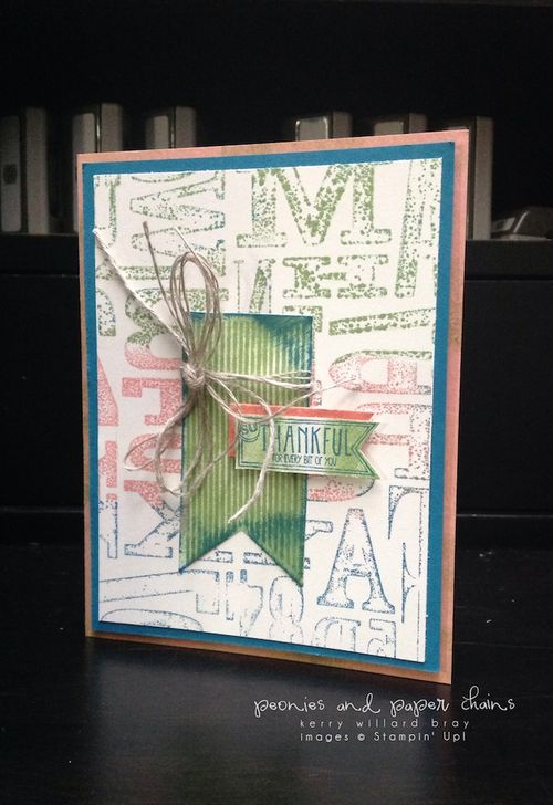 Stampin' Up! Amazing Birthday thank you card by Kerry Willard Bray www.peoniesandpaperchains.com PPA