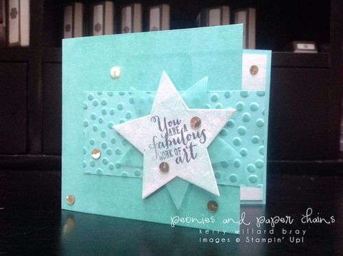 Stampin' Up! Work of Art star card by Kerry Willard Bray www.peoniesandpaperchains.com 2